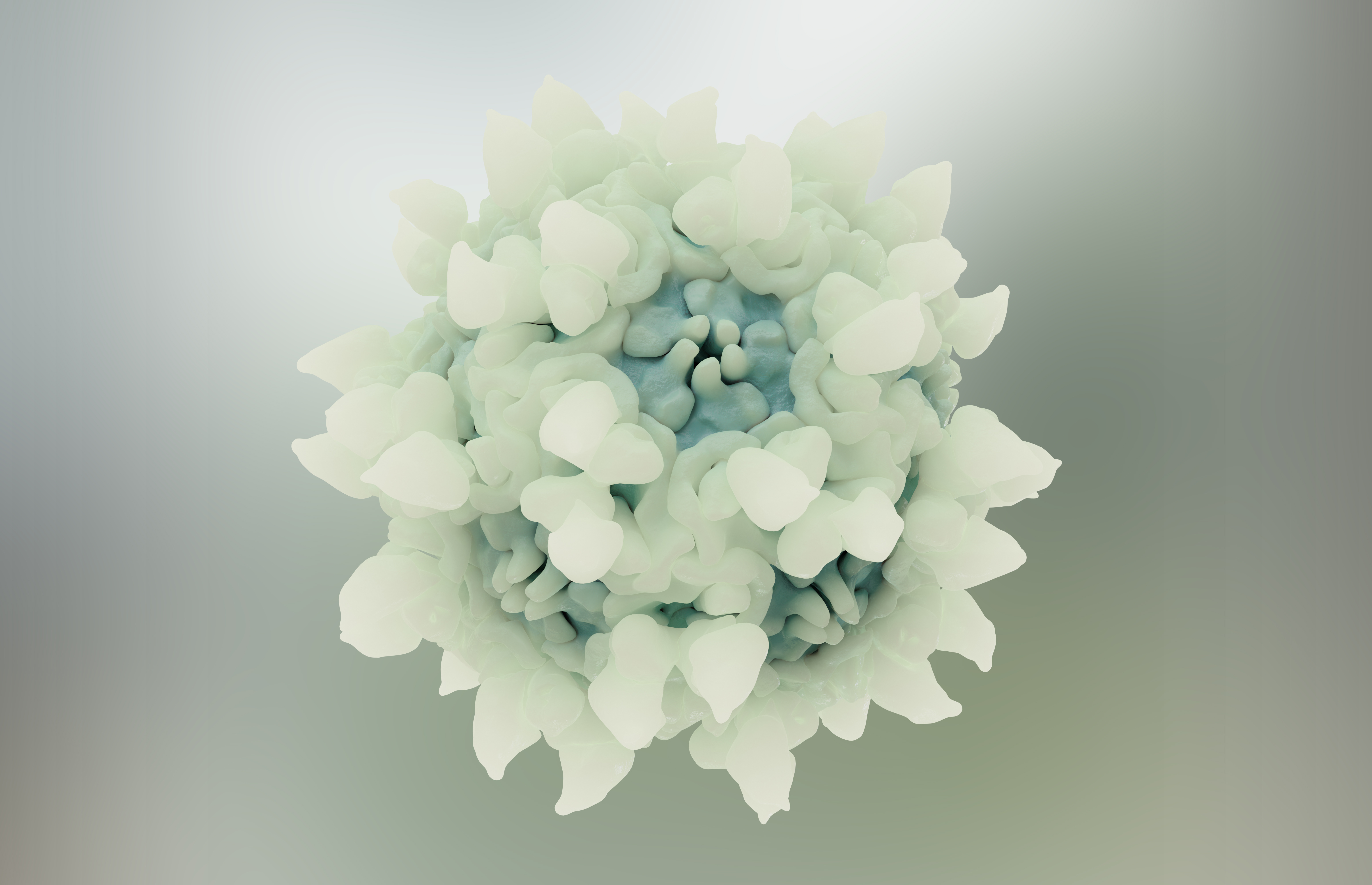 Comprendre la manière dont les virus pénètrent dans les cellules puis parviennent à libérer leur ADN dans le noyau de la cellule hôte pour se répliquer (Visuel Adobe Stock 357561442: illustration d'un parvovirus)