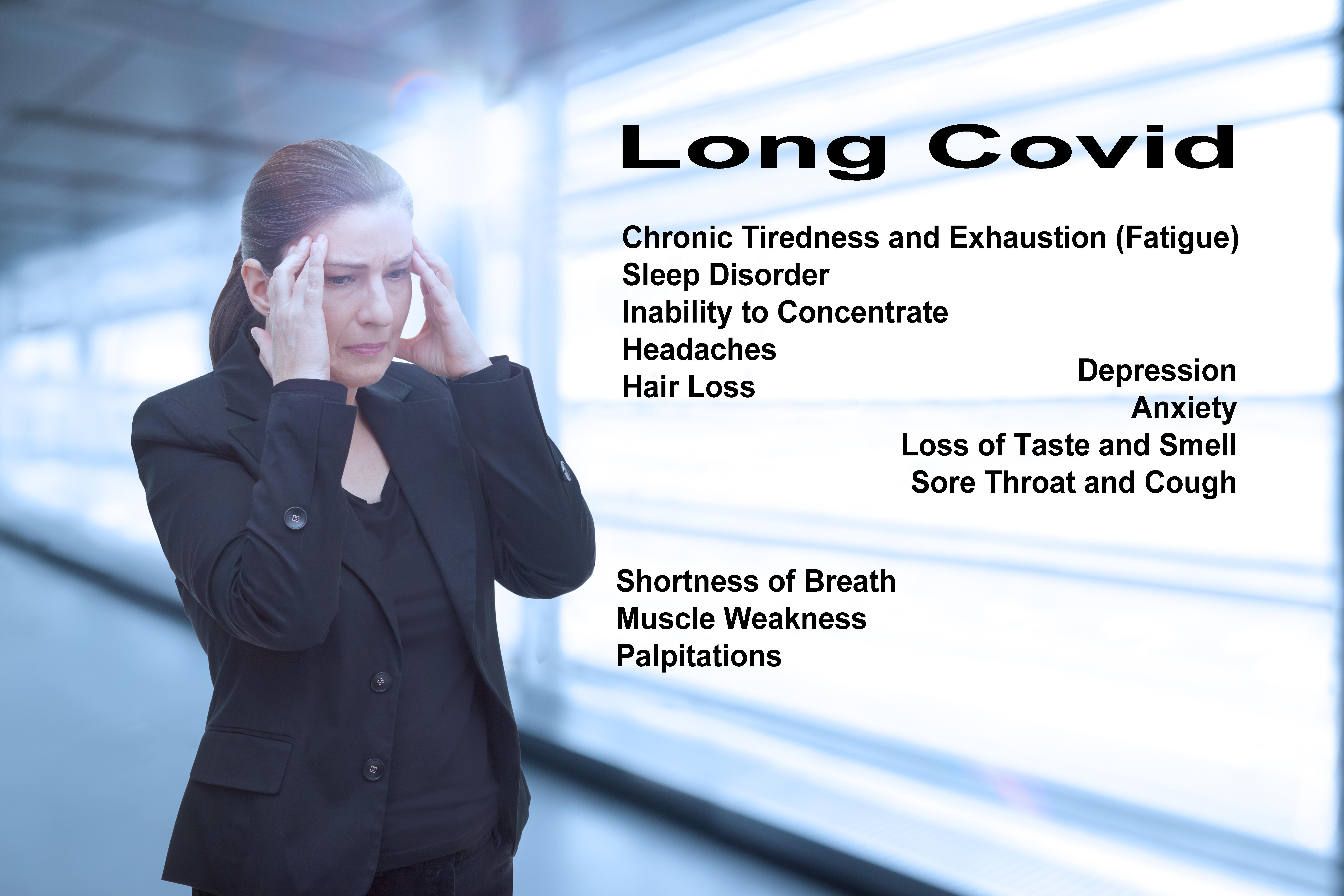 Environ 67% des personnes atteintes de COVID léger ou modéré développent un COVID long (Visuel Adobe Stock 428996694).