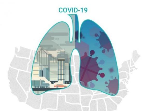 Une exposition à long terme aux polluants atmosphériques urbains, en particulier au dioxyde d'azote (NO2), peut accroître le risque de décès associé à COVID-19 (Visuel The Innovation)