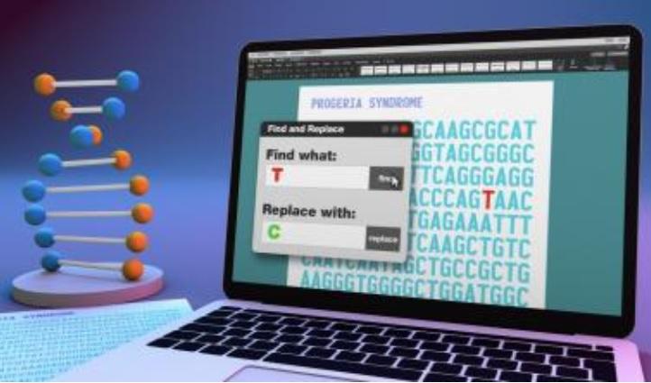 La progéria, une maladie génétique rare qui affecte les enfants d'un vieillissement accéléré a peut-être trouvé son traitement avec cette nouvelle méthode d'édition du génome (Visuel Ernesto del Aguila III, NHGRI).