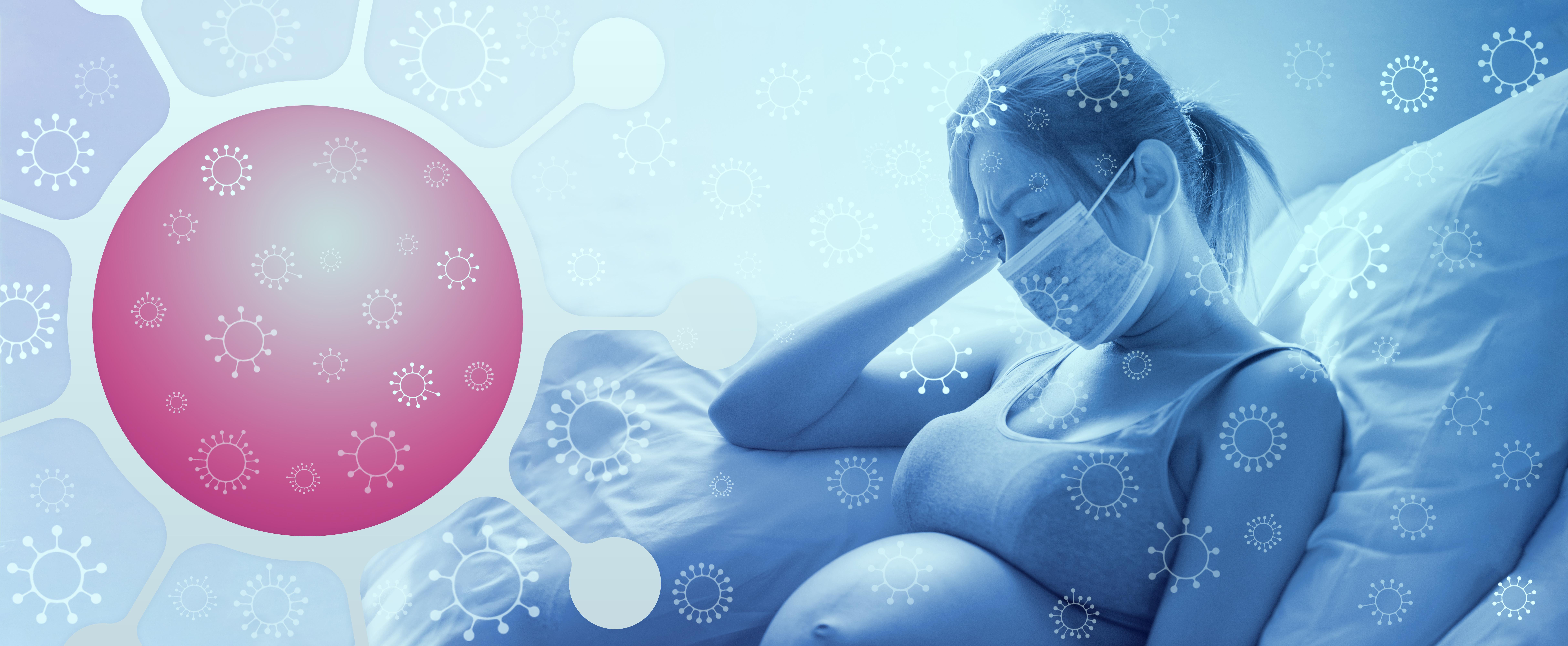 Une nouvelle complication de COVID-19 vient d'être révélée, en cas de grossesse : soit un type de lésion observé dans les placentas (Visuel AdobeStock_328466433)