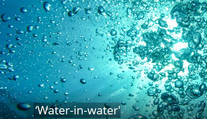 """""""3D water-on-water printing"""" ou impression 3D eau-dans l'eau"""