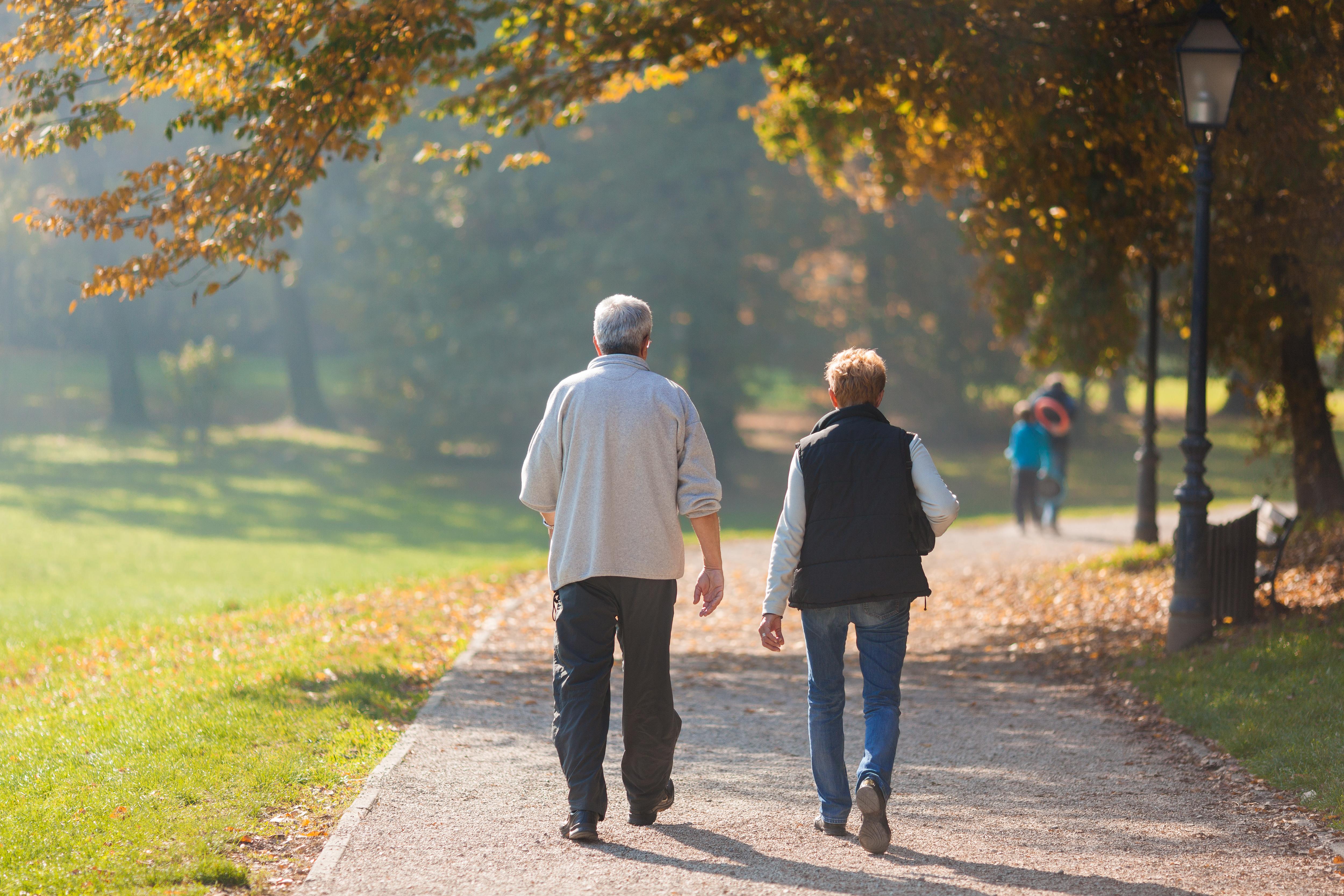 Le principe d'un entraînement par intervalles, avec de courtes séances plus intenses, s'applique aussi, avec bénéfice, à la marche, en particulier chez les personnes âgées.