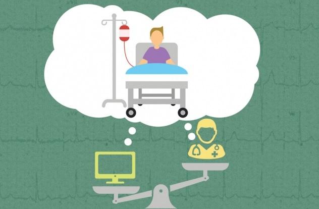 Il y a quelque chose dans l'expérience du médecin, dans ses années de formation et de pratique qui lui permet de savoir dans une prise en compte plus globale et au-delà d'une liste des symptômes, quel est l'état de santé de son patient