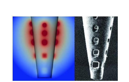 En créant une série de trous minuscules près de l'extrémité d'une micropipette, l'équipe montre qu'il est alors possible de tracer une zone plus large en taguant un plus grand nombre de cellules