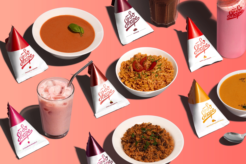 Les produits So Shape sont 100% Made in France, Nutri-Score A et végétariens pour l'entièreté de la gamme et vegans pour certains (Visuel So Shape)