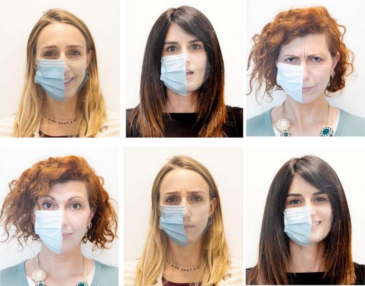 Les chercheurs de l'IIT ont préparé un quiz basé des images de personnes avec et sans masque facial (Visuel L.Taverna/IIT-Istituto Italiano di Tecnologia)