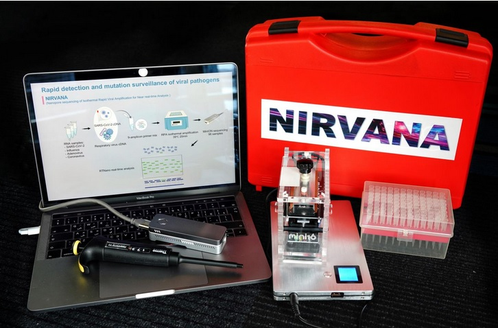 Le système s'appelle Nirvana, pour nanopore sequencing of isothermal rapid viral amplification for near real-time analysis (Visuel Mo Li/KAUST)