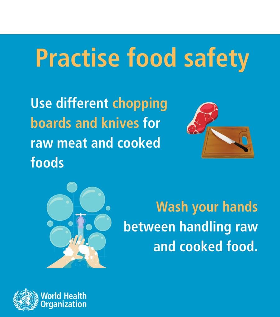 L'OMS a émis des recommandations de précaution, notamment des conseils sur le respect des bonnes pratiques d'hygiène lors de la manipulation et de la préparation des aliments