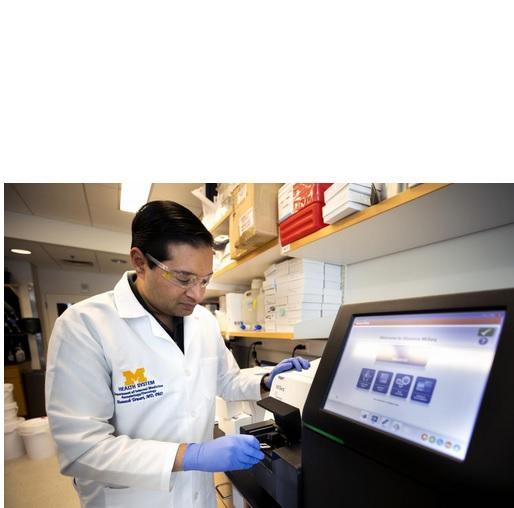 L'équipe de l'Université du Michigan, menée par le Dr Muneesh Tewari (visuels) a mis au point cette nouvelle méthode permettant de lever les empreintes génétiques de minuscules fragments d'ARN trouvés dans le plasma sanguin