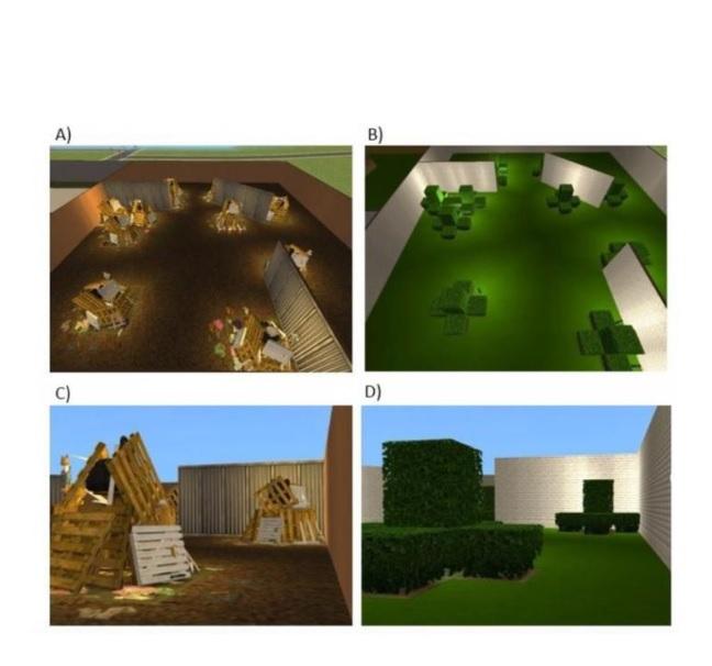 L'équipe a développé des scénarii de réalité virtuelle à l'aide du jeu vidéo virtuel Sims