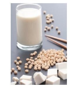 La plupart des essais contrôlés randomisés retenus ici portaient sur l'utilisation de protéines de soja (végétales) pour remplacer des protéines laitières (animales).