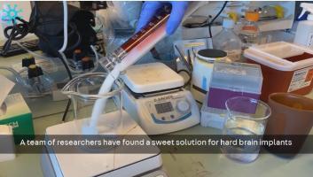 Ces nouveaux dispositifs fabriqués à base de silicone et enrobés de sucre ont une consistance molle comme le cerveau lui-même (Visuel The Neuro)