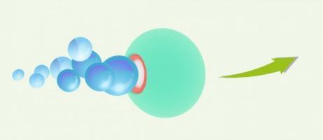 Des micromoteurs à base de magnésium propulsés par des bulles d'hydrogène au sein des articulations permettent de réduire les symptômes handicapants de la polyarthrite rhumatoïde (Visuel Nano Letters 2021).