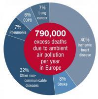 La pollution atmosphérique provoque 800.000 décès supplémentaires par an en Europe