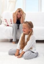 Se mettre trop souvent en colère ou crier après les enfants est associé à une réduction du volume de certaines structures cérébrales à l'adolescence (Visuel Fotolia).